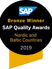Medalje fra SAP Quality Awards